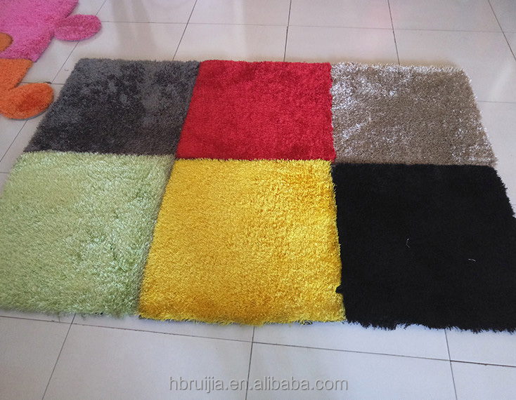Made in China Factory 100% Polyester Silk Rectangle Colorful Patchwork Carpet