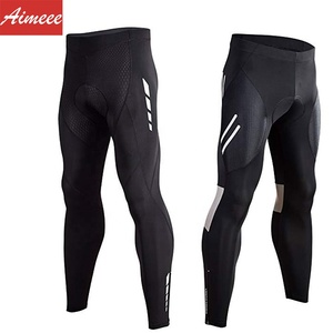 Man Sportswear Riding Bicycle Wear with Hidden Pocket for Fall Winter Athletic Tights Leggings