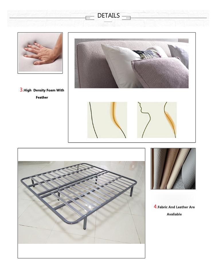 Cuero Simple Marco De La Cama En El Dormitorio Cama Doble Muebles De ...