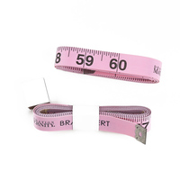 150 cm custom printed your BRA brand pink measuring tape 15 mm centimeter for promotion