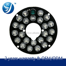 Free sample available for testing 24 pcs ir led panel light cctv board camera pcb manufacturer