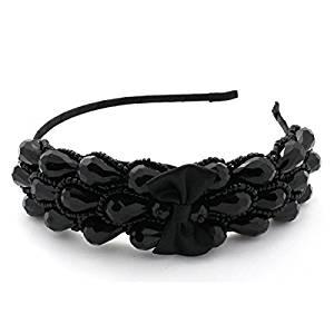 Smile Elegant Sharp Bowknot Women Girl Crystal Rhinestone Headband Hair Wear Hair Band PL87