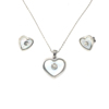 amazon top seller 2019 silver jewelry woman jewellery accessories heart pendant