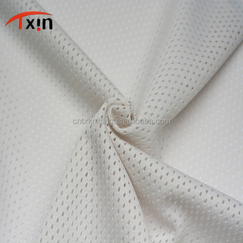 C007 bullet net shaped hot sale polyester mesh fabric for sportswear and garment
