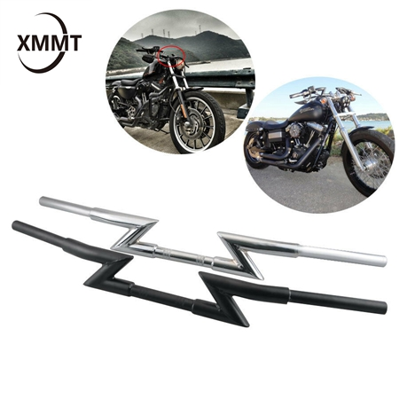 Moto 2,5/cm 25/mm manubrio riser Dirt bike chopper Cruiser Touring bobber scooter Offroad Custom moto