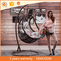 High Quality PE Rattan For Garden cheap outdoor indoor wicker hanging chair