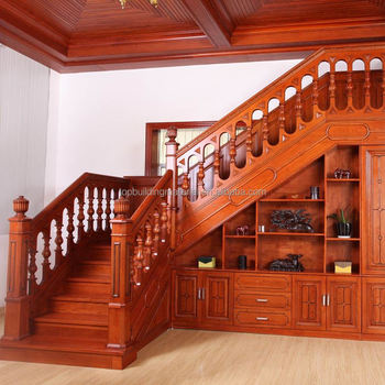 Hot sale duplex staircase wooden staircase classic staircase