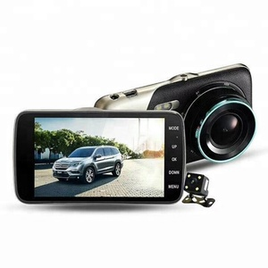 Newest 4 inch Car DVR Dual Lens Video Recorder Parking monitor Car Camera 1200W pixels WDR Dash Cam Night Vision Auto Black Box