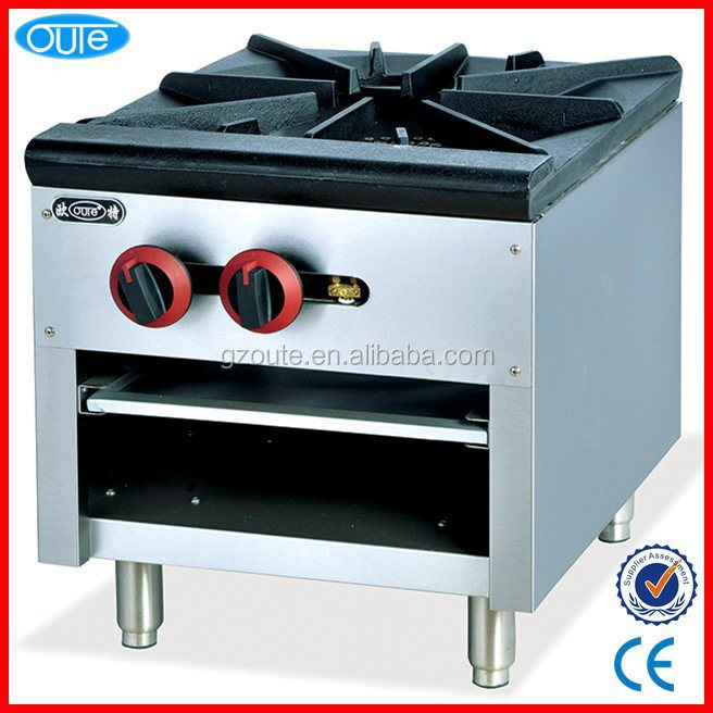 Factory price commercial restaurant 1burner table top gas cooker with oven