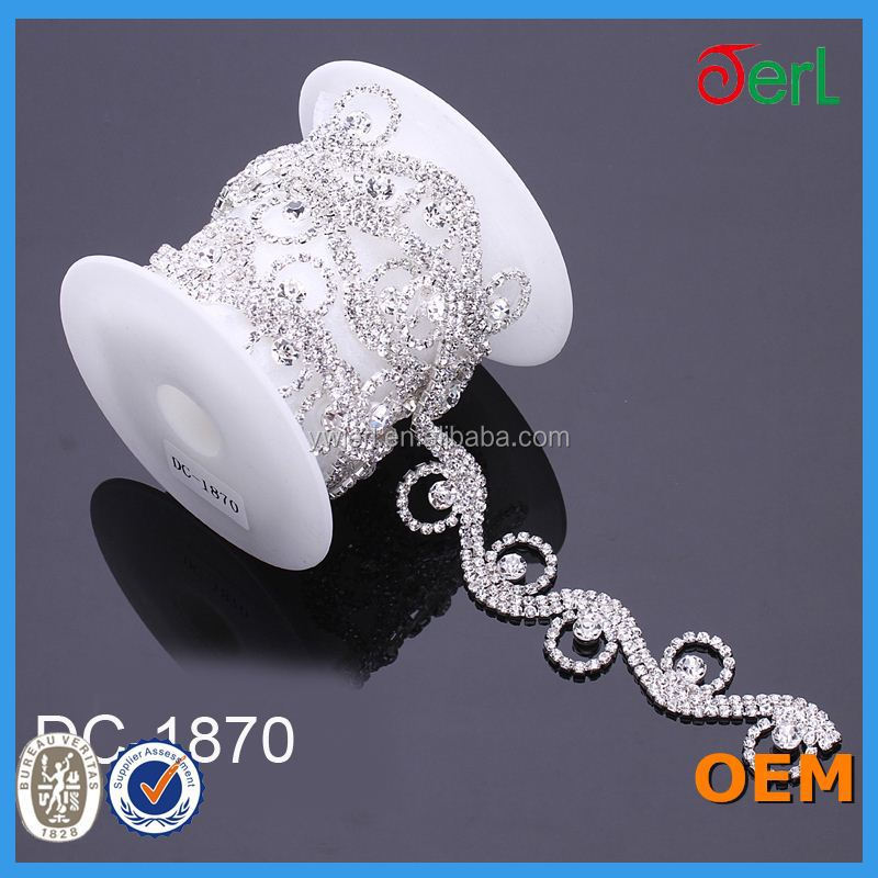 rhinestone cup chain for browband