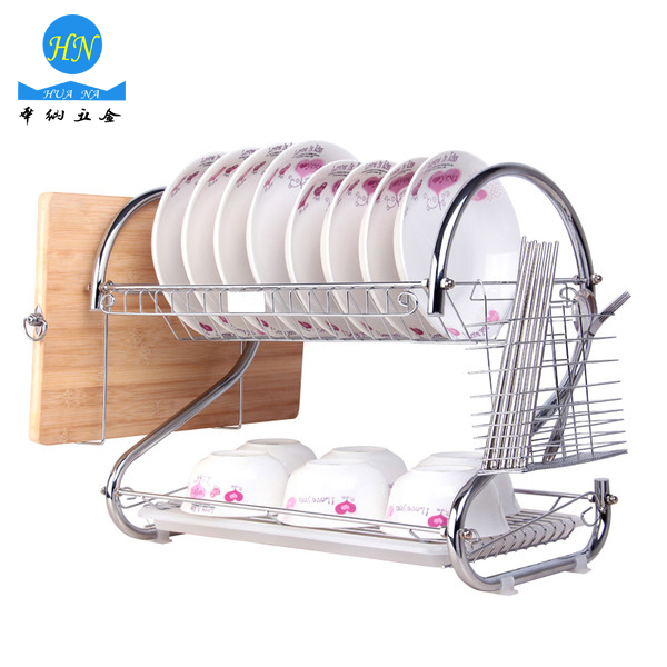 Stainless Steel Dish Rack Kitchen Plate Bowl Drying Rack Cutlery Holder Dish Drainer Rack