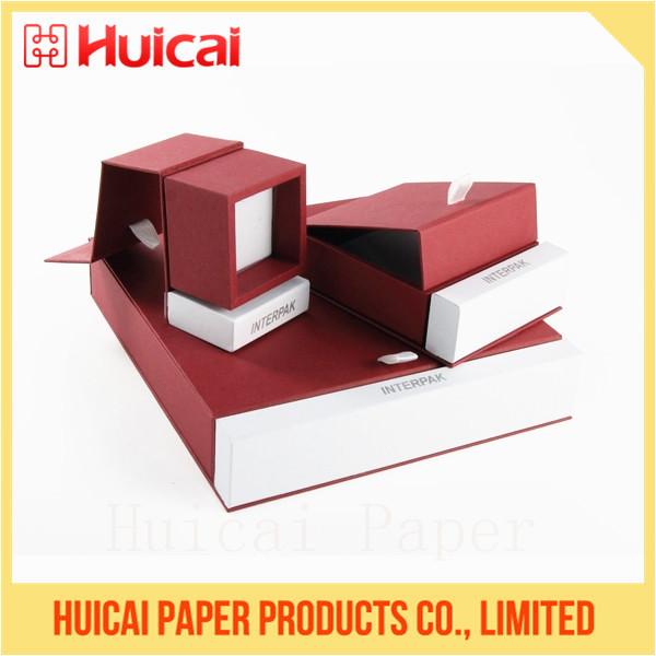 45ef6a4af6ff Moda lujo logotipo personalizado antiguo terciopelo impreso papel caja de  joyas estuches joyeria