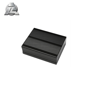 black anodized aluminium enclosures profile for electronics