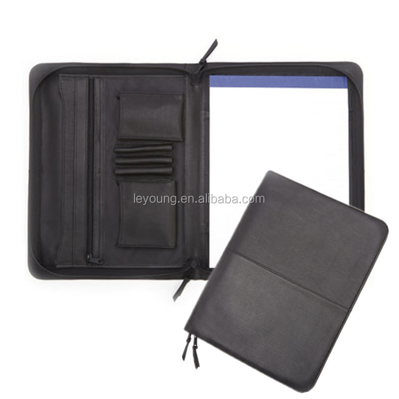 High-Grade PU Leather Office Meeting Pad A4 File Paper Folders