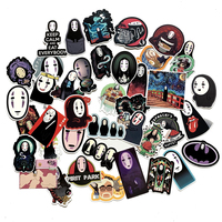 40 pcs personalized Custom printed Waterproof Reusable Cosmetic Faceless Mobile Phone Japanese Stickers For Skateboard