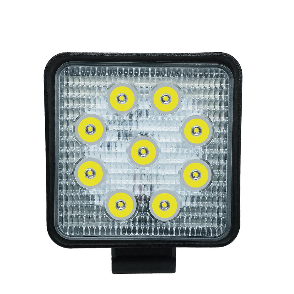 27W 2700LM IP68 Waterproof Square LED Strip Work Light Bar Refit Off-road Light Roof Strip Lamp Vehicle ATV SUV