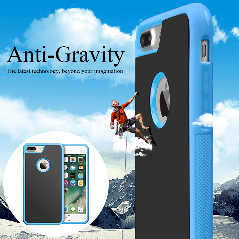 Brand New Technology Nano Suction Case Sticky Stick To Wall Anti Gravity Cases