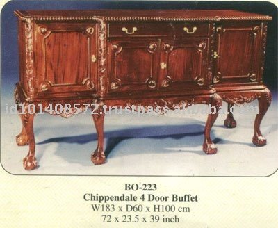 Chippendale 4 Door Buffet Mahogany Indoor Furniture Buy Buffet
