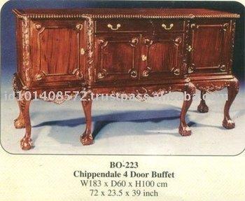 Chippendale 4 Porte Buffet Meubles D Interieur En Acajou Buy