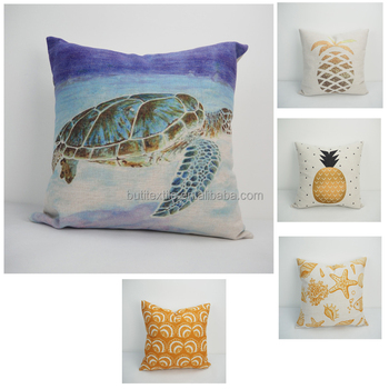 Wholesale Custom Heat Transfer Printing Scenery Pillow Case Throw