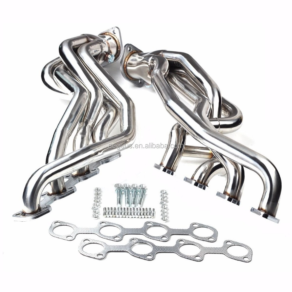 FIT FOR FORD MUSTANG GT 4.6 V8 96-04 STAINLESS LONG TUBE RACING MANIFOLD HEADER