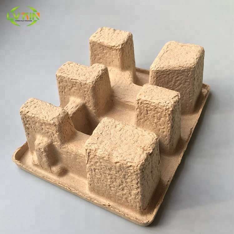 Biodegradable shipping tray molded pulp electronic product packaging tray pulp tray hot selling packaging manufacturer