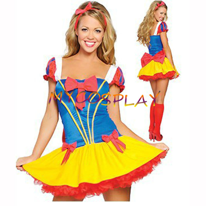 86d591d44ae8 2015 Cheap Snow White Cosplay Dress Fairy tale Princess Dress Costume Fancy  Women Dress From Snow