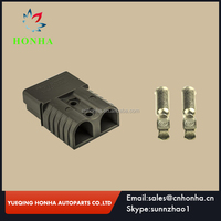 SB 175 A 600V POWER CABLE BLACK CONNECTOR PLUG BATTERY CONNECTOR WITH 1/0 CONTACTS FOR FORKLIFT GOLF CARS STACKER