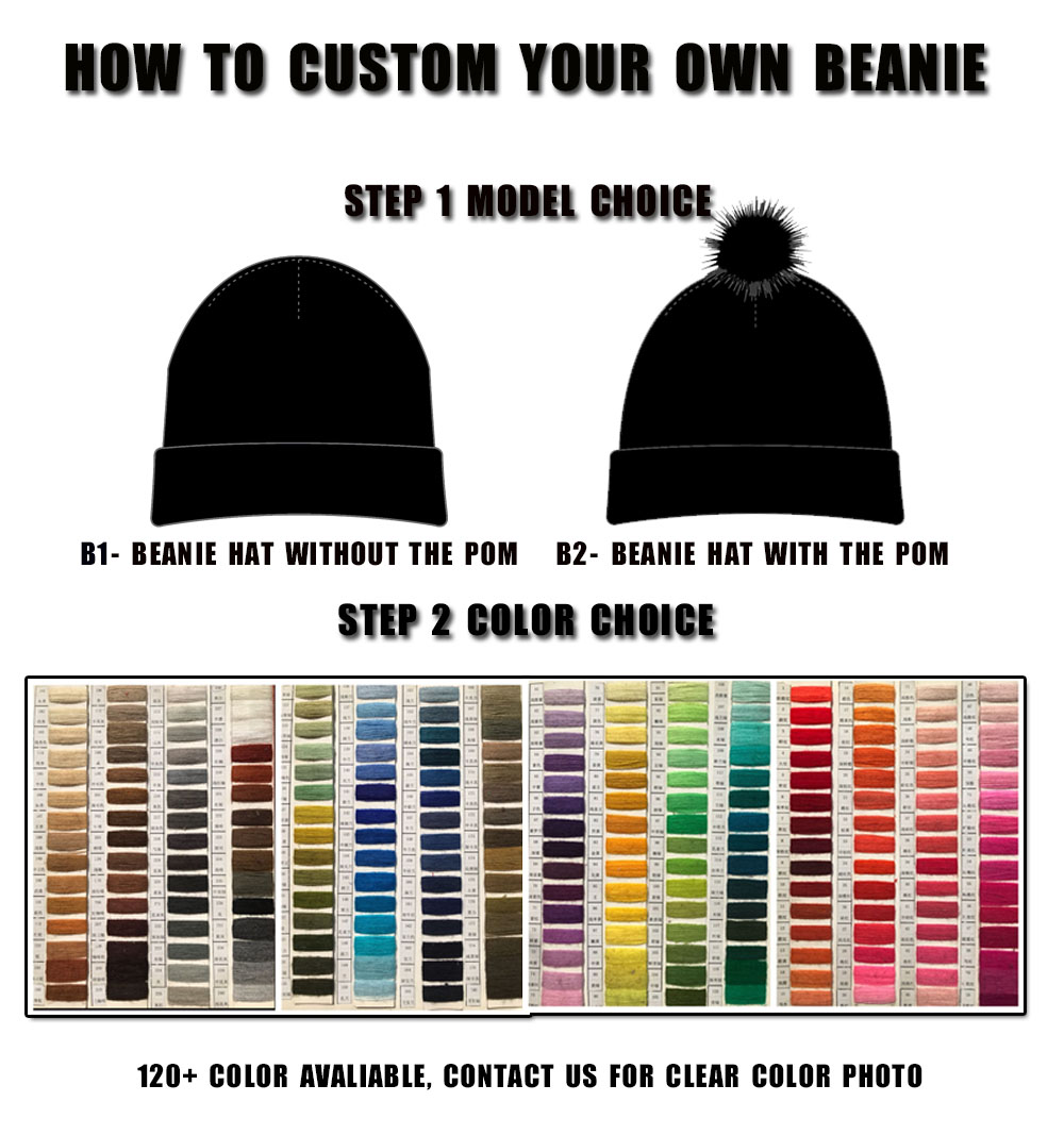 Professional custom leather patch beanie knitted with headphone beanies b8c2828f0cf1