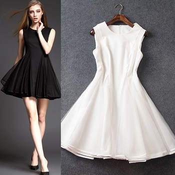 Wholesale Women&-39-s Clothes Casual Semi Formal Pure Color Sleeveless ...