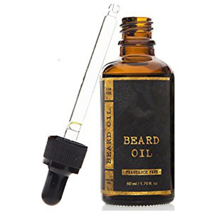 En gros logo personnalisé emballage barbe soins personnels bio huile de croissance de barbe pour les hommes