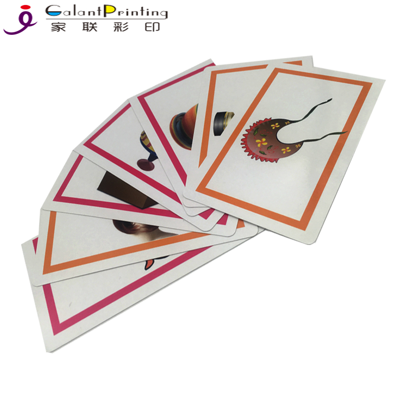 custom print popular paper playing game cards for kids education flash card