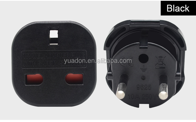 Yuadon travel adapter uk to eu ยุโรปยุโรปปลั๊กอะแดปเตอร์ YD-9625