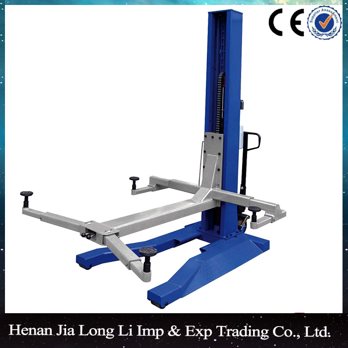 China one post lift single post car lift used home garage 1 post lift