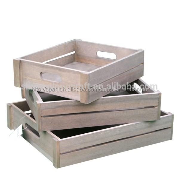 madera sin terminar de envo embalaje de la plataforma y gran cajn de