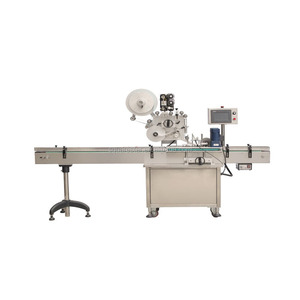 Automatic paper bag labeling machine