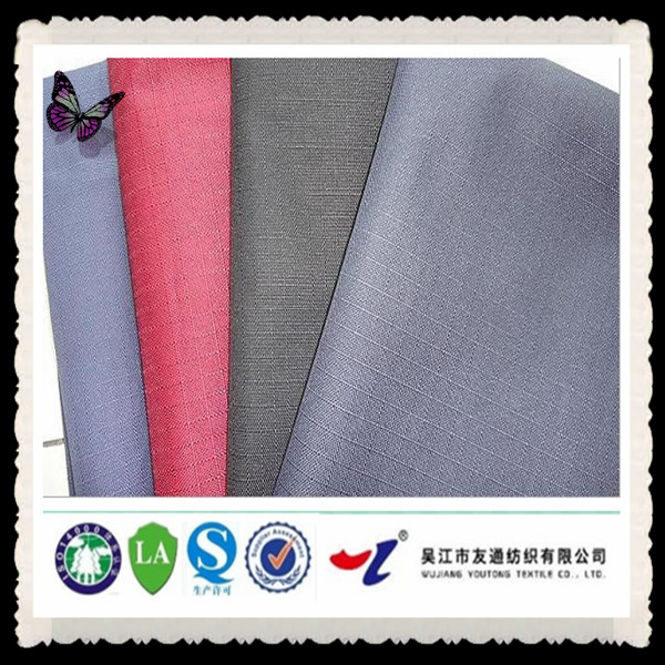 55*50 600D anti-static plaid poly oxford fabric for PVC / PU backing in china