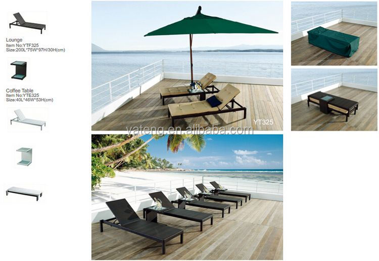 Low Price Folding Beach Lounge Chair With Cushions And