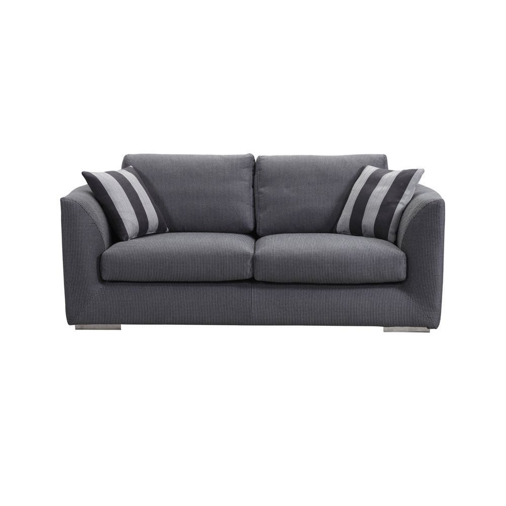 Ucofor S676 Multi-color Adjustable Fabric Sofa Bed Combinations for 2 Seater or 3 Seater Couches (3 Seater, Ash black)
