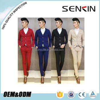 Mode kustom (jaket + celana + rompi) tuksedo pesta pernikahan pakaian formal  untuk pria 107e6c4aa4