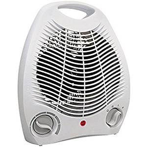 Comfort Zone Howard Berger Co Electric Portable Heater Fan with Adjustable Thermostat, White
