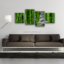 Großhandel 4 Panel Bambus Malerei Kunstdruck Bild Auf Leinwand