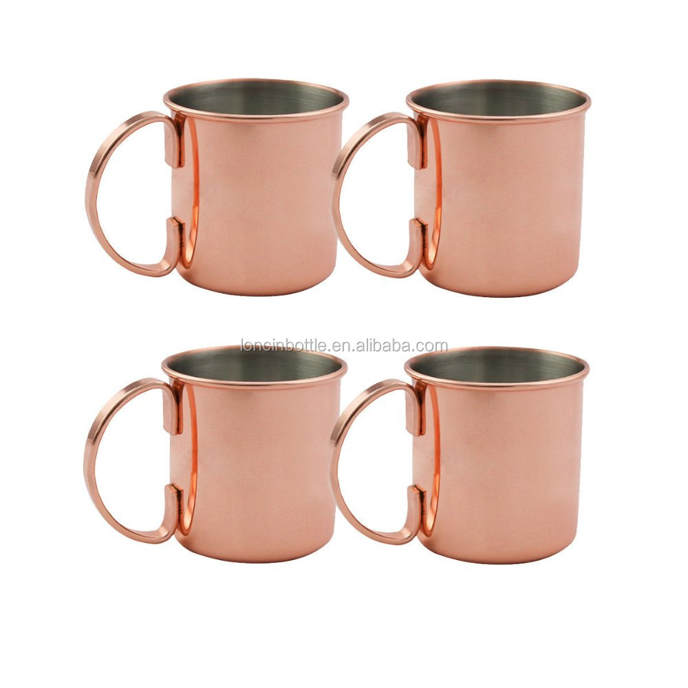 Amazon hot selling Copper Moscow Mule Mug/Cup Stainless Beer Cocktail Martini mug,14oz copper mule mug