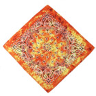 cotton 100 % printed custom yellow tie dye paisley multifunctional bandana head wrap head wear