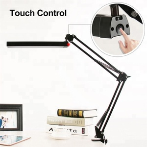 Brightness Adjustable Task Electric Flexible Snake LED Hotel Book Reading Lamp Iron Wholesale Desk Table Lamp