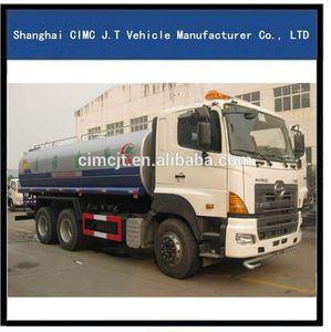HINO 6*4 off-road Water tank vehicle all wheel drive Water bowser tank Truck 19m3 15000L off-road washing truck