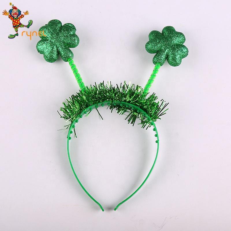 Verde trébol Irlandés Trébol Hoja St Patricks Día cabeza Bopper vestido elegante.