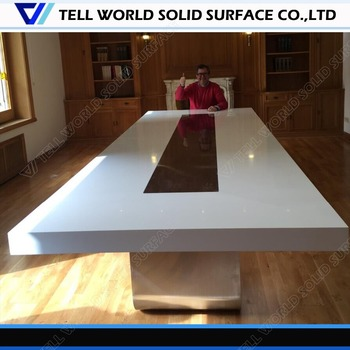 Di Alta Qualità Acrylic Solid Surface Sala Del Consiglio Tavolo Da ...