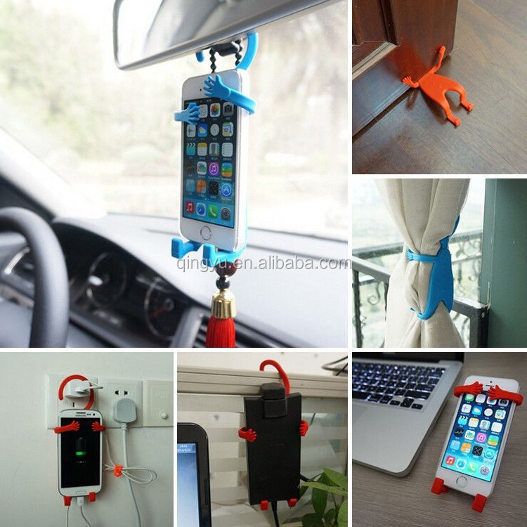 Car Universal Grip Stand Mounts Hanger Holder For Phone Flexible Hanging Human