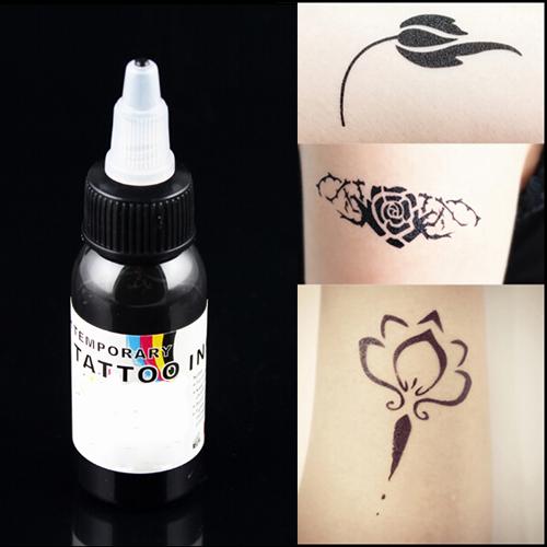 Henna Tattoo Ink: Black Paint For Tattoo Airbrush Tattoo Ink Temporary